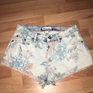 Roxy floral denim shorts